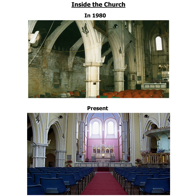 Church Refurbishment in 1980 - inside the church
