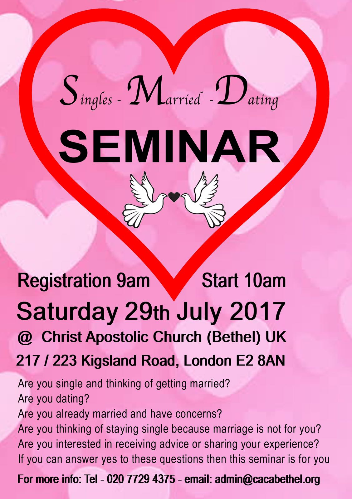 Singles and married seminar