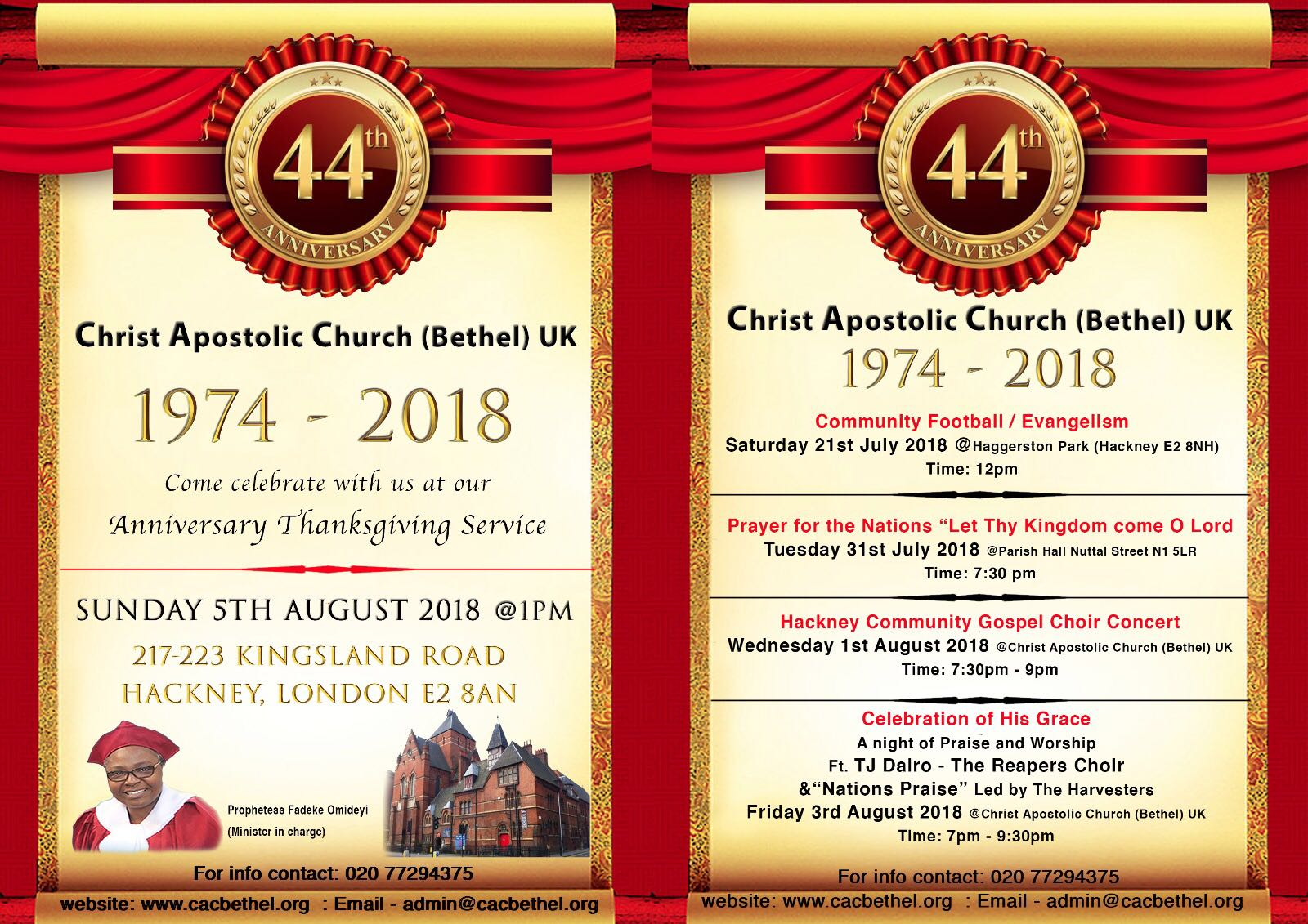 44th Anniversary – Thanksgiving Service – cacbethel org